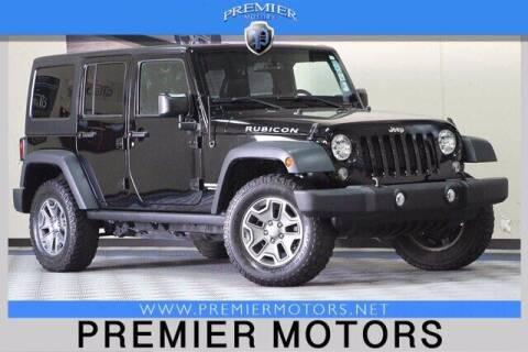 2016 Jeep Wrangler Unlimited for sale at Premier Motors in Hayward CA