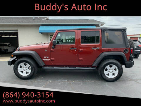 2009 Jeep Wrangler Unlimited for sale at Buddy's Auto Inc in Pendleton, SC