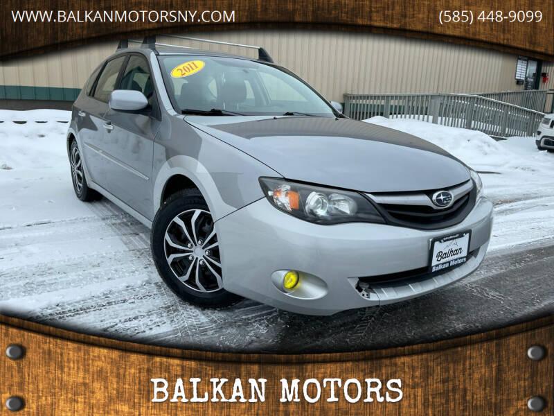 2011 Subaru Impreza for sale at BALKAN MOTORS in East Rochester NY