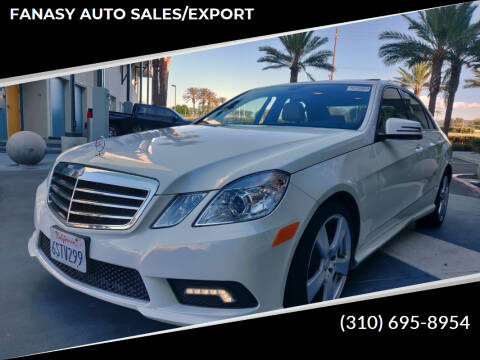 2011 Mercedes-Benz E-Class for sale at FANASY AUTO SALES/EXPORT in Yorba Linda CA