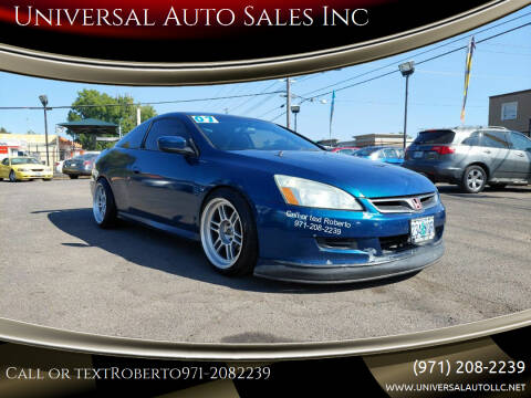 2007 Honda Accord for sale at Universal Auto Sales Inc in Salem OR