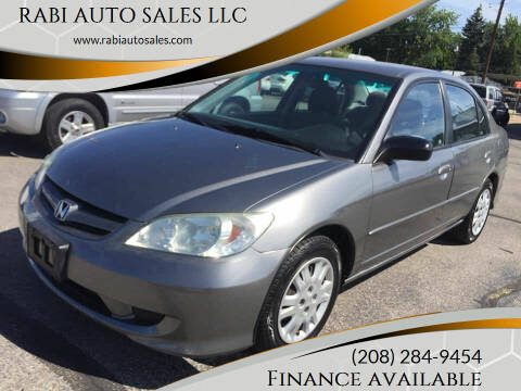 2005 Honda Civic for sale at RABI AUTO SALES LLC in Garden City ID
