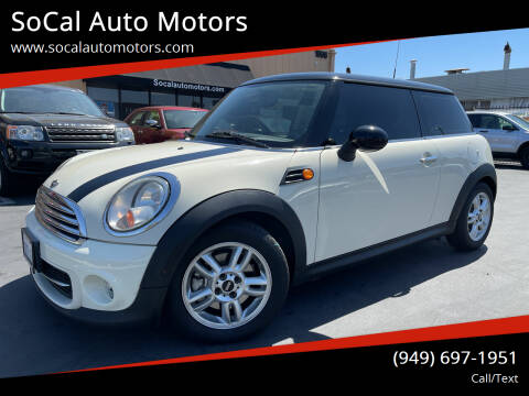 2011 MINI Cooper for sale at SoCal Auto Motors in Costa Mesa CA