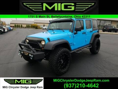 2017 Jeep Wrangler Unlimited for sale at MIG Chrysler Dodge Jeep Ram in Bellefontaine OH