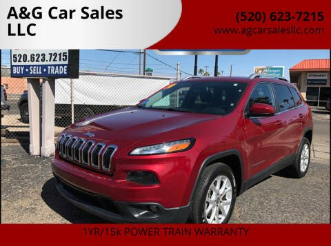 2014 Jeep Cherokee for sale at A&G Car Sales  LLC in Tucson AZ