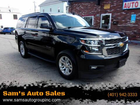 2015 Chevrolet Tahoe for sale at Sam's Auto Sales in Cranston RI