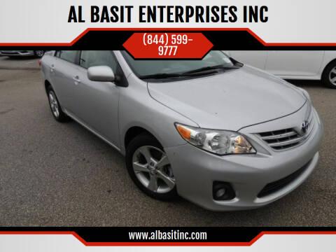 2013 Toyota Corolla for sale at AL BASIT ENTERPRISES INC in Riverside CA