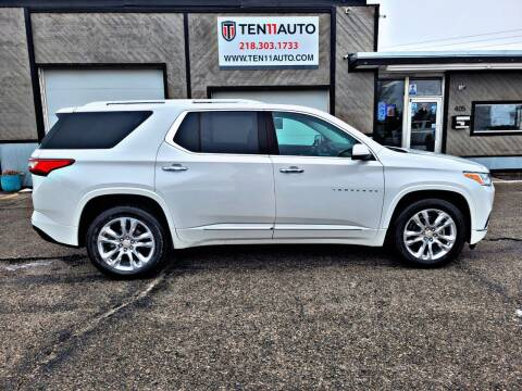 2018 Chevrolet Traverse for sale at Ten 11 Auto LLC in Dilworth MN