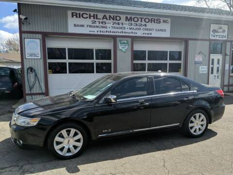 2008 Lincoln MKZ for sale at Richland Motors in Cleveland OH