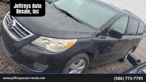 2011 Volkswagen Routan for sale at Jeffreys Auto Resale, Inc in Clinton Township MI
