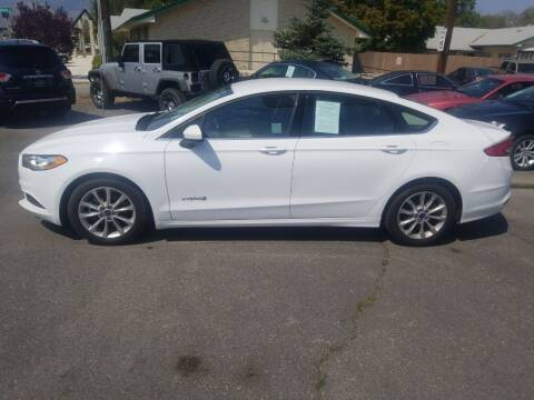 2017 Ford Fusion Hybrid for sale at Freds Auto Sales LLC in Carson City NV