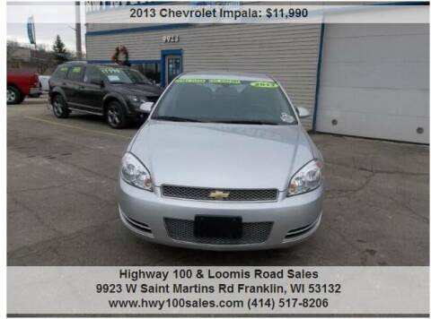 2013 Chevrolet Impala for sale at Highway 100 & Loomis Road Sales in Franklin WI