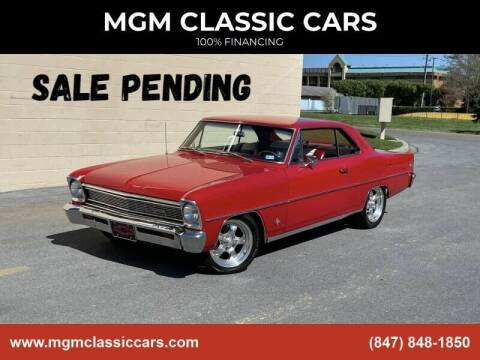 1966 Chevrolet Nova for sale at MGM CLASSIC CARS in Addison IL