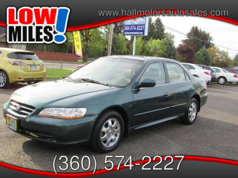 2002 Honda Accord for sale at Hall Motors LLC in Vancouver WA