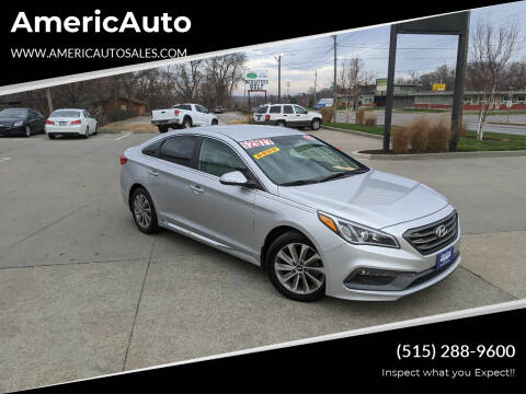 2015 Hyundai Sonata for sale at AmericAuto in Des Moines IA