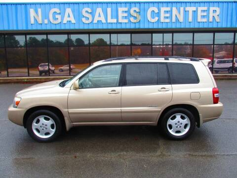 2006 Toyota Highlander for sale at NORTH GEORGIA Sales Center in La Fayette GA