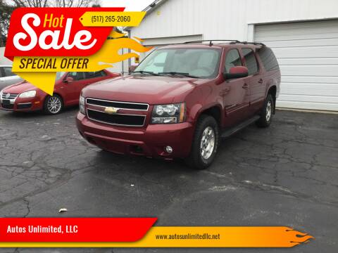 2010 Chevrolet Suburban for sale at Autos Unlimited, LLC in Adrian MI
