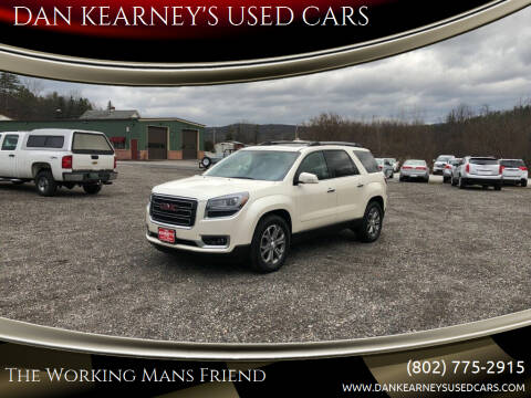 2014 GMC Acadia for sale at DAN KEARNEY'S USED CARS in Center Rutland VT