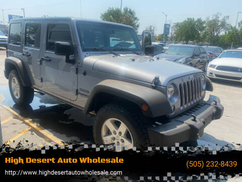 2016 Jeep Wrangler Unlimited for sale at High Desert Auto Wholesale in Albuquerque NM