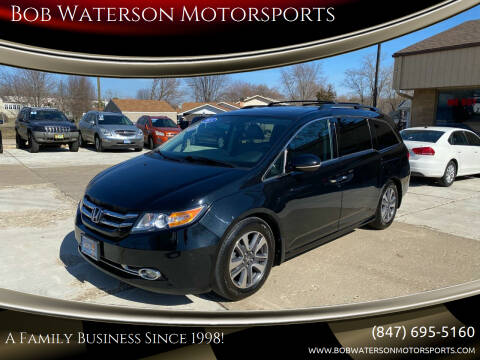 2015 Honda Odyssey for sale at Bob Waterson Motorsports in South Elgin IL