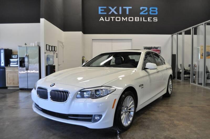 2012 BMW 5 Series for sale at Exit 28 Auto Center LLC in Cornelius NC