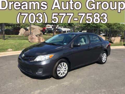 2012 Toyota Corolla for sale at Dreams Auto Group LLC in Sterling VA