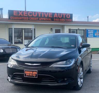 2015 Chrysler 200 for sale at Executive Auto in Winchester VA