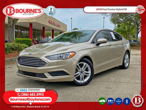 2018 Ford Fusion Hybrid for sale at Bourne's Auto Center in Daytona Beach FL