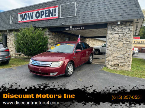 2008 Ford Taurus for sale at Discount Motors Inc in Old Hickory TN