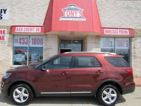 2016 Ford Explorer for sale at Tony's Auto World in Cleveland OH
