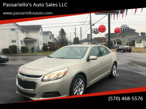 2014 Chevrolet Malibu for sale at Passariello's Auto Sales LLC in Old Forge PA