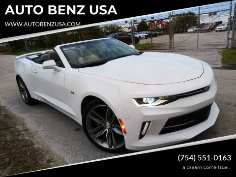 2016 Chevrolet Camaro for sale at AUTO BENZ USA in Fort Lauderdale FL