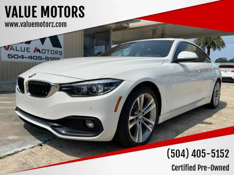 2018 BMW 4 Series for sale at VALUE MOTORS in Kenner LA