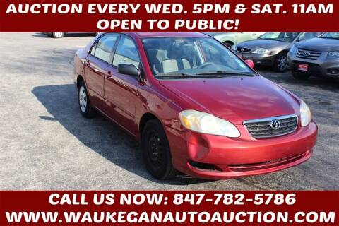 2006 Toyota Corolla for sale at Waukegan Auto Auction in Waukegan IL