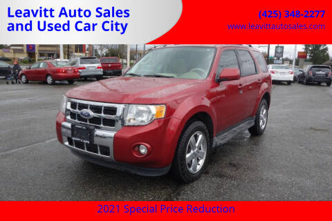 2012 Ford Escape for sale at Leavitt Auto Sales and Used Car City in Everett WA