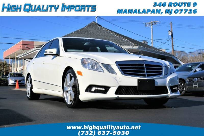 2011 Mercedes-Benz E-Class for sale at High Quality Imports in Manalapan NJ
