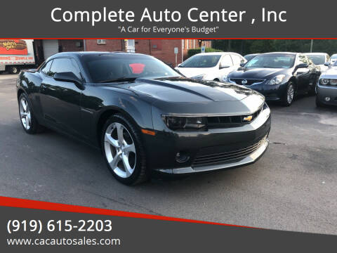 2015 Chevrolet Camaro for sale at Complete Auto Center , Inc in Raleigh NC