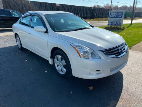 2010 Nissan Altima for sale at SIMPSON MOTORS in Youngstown OH