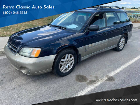 2002 Subaru Outback for sale at Retro Classic Auto Sales - Modern Cars in Spangle WA