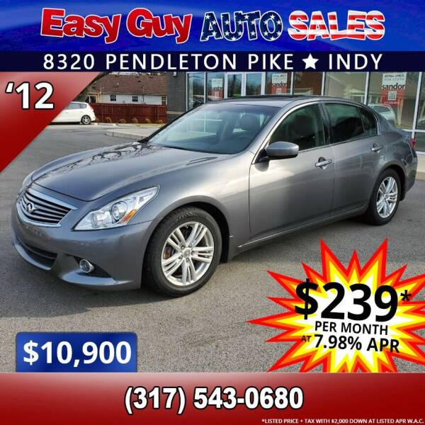 2012 Infiniti G37 Sedan for sale at Easy Guy Auto Sales in Indianapolis IN