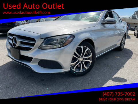 2016 Mercedes-Benz C-Class for sale at Used Auto Outlet in Orlando FL