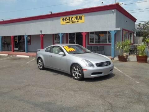 2003 Infiniti G35 for sale at Atayas Motors INC #1 in Sacramento CA