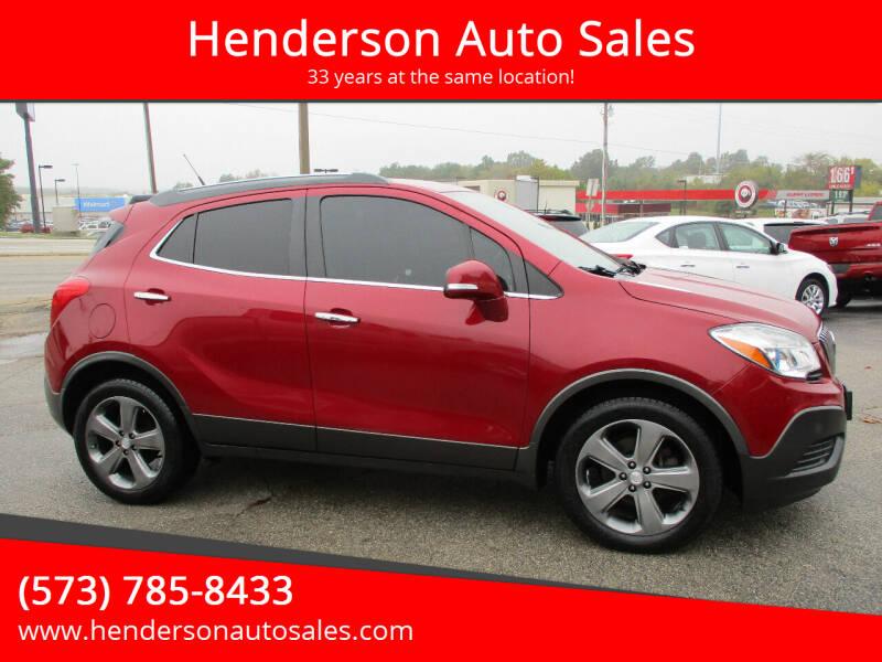 2014 Buick Encore for sale at Henderson Auto Sales in Poplar Bluff MO