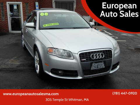 2008 Audi A4 for sale at European Auto Sales in Whitman MA