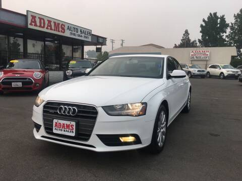 2014 Audi A4 for sale at Adams Auto Sales in Sacramento CA