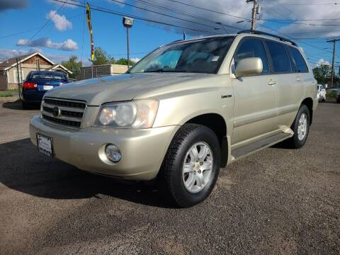 2003 Toyota Highlander for sale at Universal Auto Sales in Salem OR