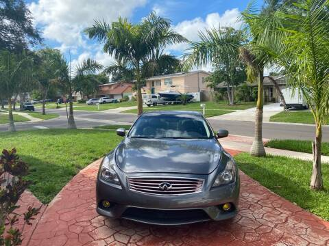 2013 Infiniti G37 Coupe for sale at ONYX AUTOMOTIVE, LLC in Largo FL