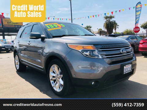 2011 Ford Explorer for sale at Credit World Auto Sales in Fresno CA