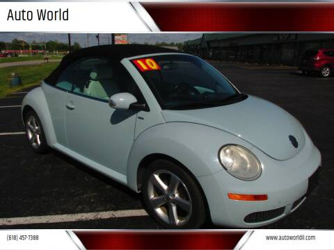 2010 Volkswagen New Beetle Convertible for sale at Auto World in Carbondale IL