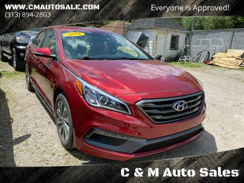 2016 Hyundai Sonata for sale at C & M Auto Sales in Detroit MI